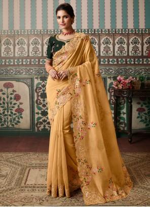 Yellow Festival Designer Saree