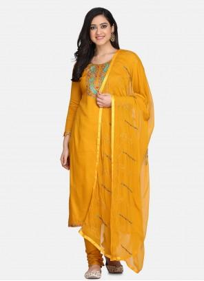 Yellow Festival Designer Suit