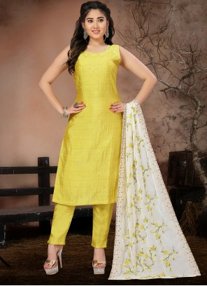 Yellow Festival Pant Style Suit