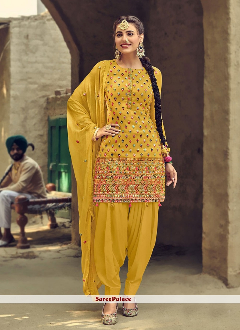 Yellow Festival Patiala Suit