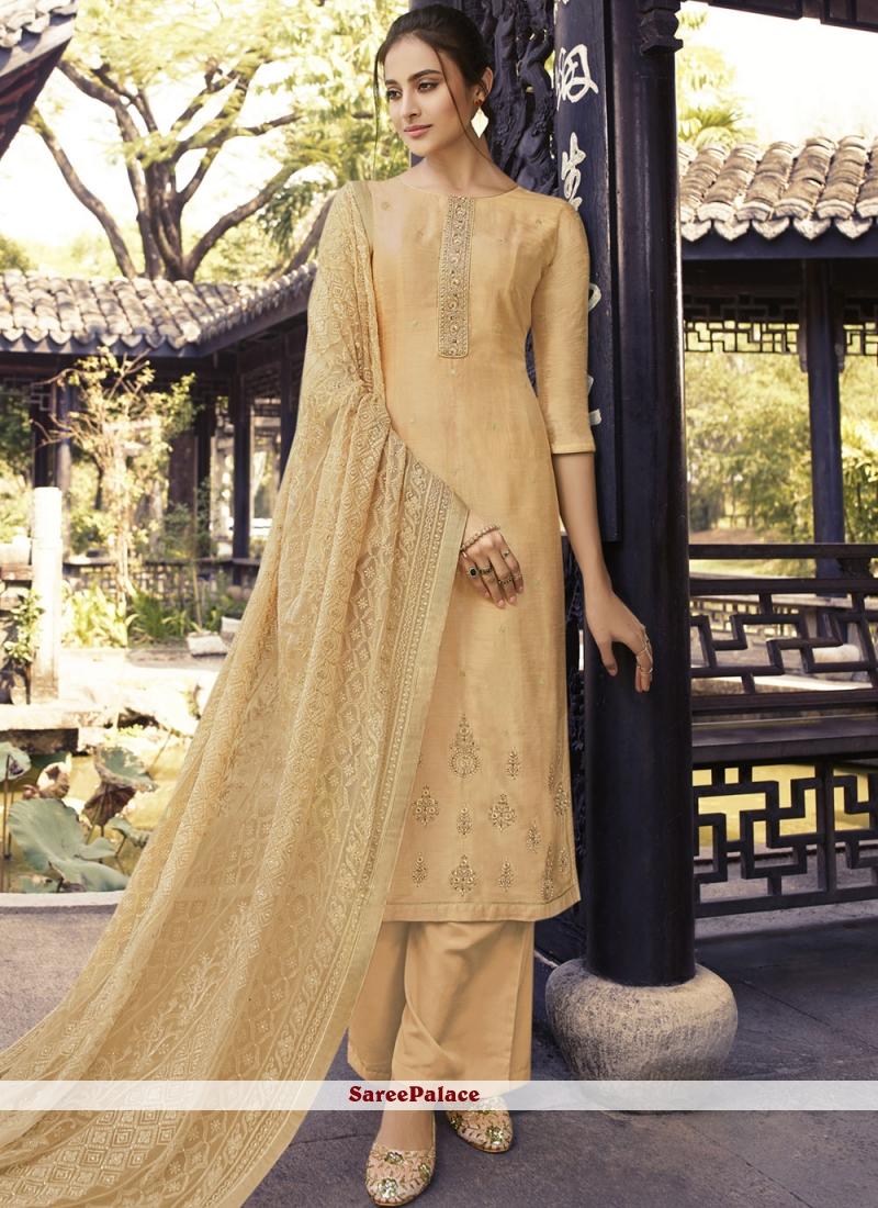 Yellow Festival Silk Designer Palazzo Suit