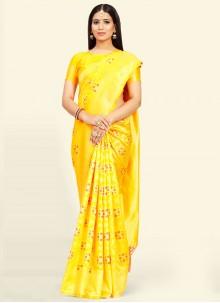 Yellow Festival Traditional Saree