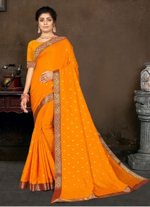 Yellow Lace Traditional Designer Saree