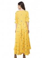 Yellow Mehndi Designer Kurti