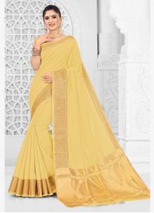 Yellow Mehndi Traditional Saree