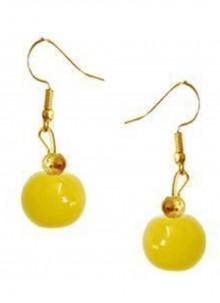 Yellow Moti Engagement Ear Rings