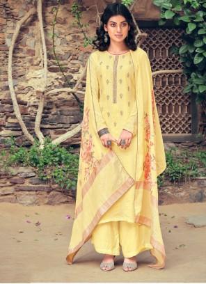 Yellow Muslin Festival Designer Pakistani Suit