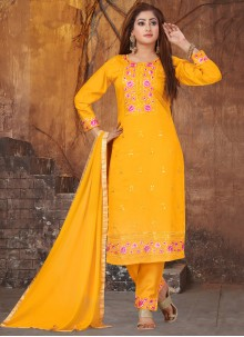 Yellow Pant Style Suit