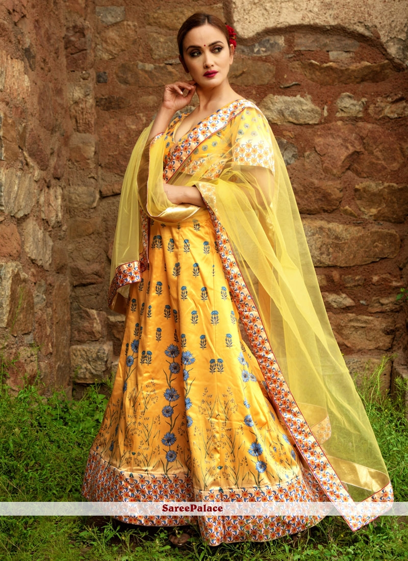 Yellow Party Designer Lehenga Choli