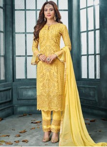 Yellow Party Designer Salwar Kameez