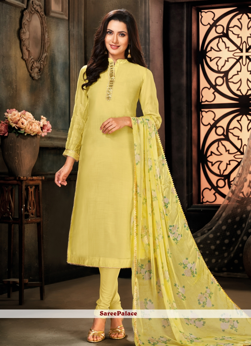 Yellow Party Designer Suit