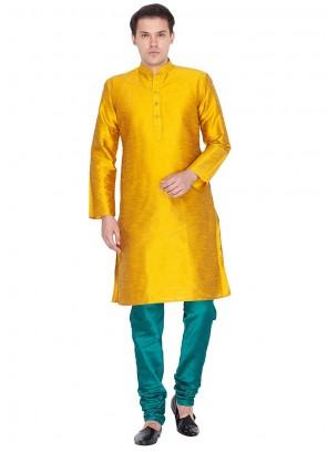 Yellow Party Kurta Pyjama