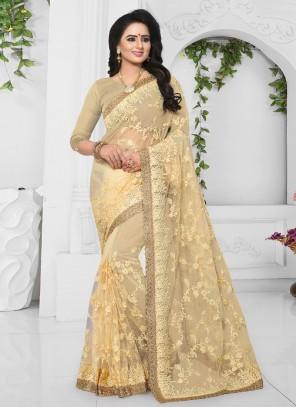Yellow Patch Border Bridal Designer Saree
