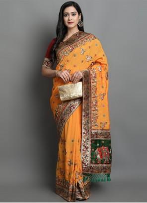 Yellow Patola Print Designer Traditional Saree
