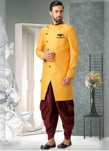 Yellow Plain Party Indo Western