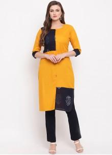 Yellow Rayon Casual Kurti