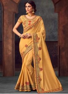 Yellow Silk Festival Silk Saree