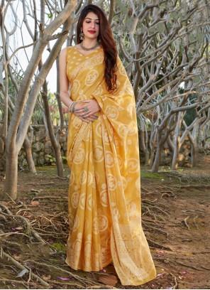 Yellow Traditional Saree