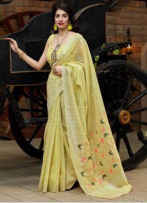 Yellow Weaving Festival Classic Saree