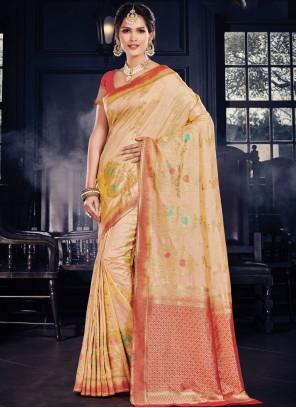 Yellow Wedding Traditional Designer Saree