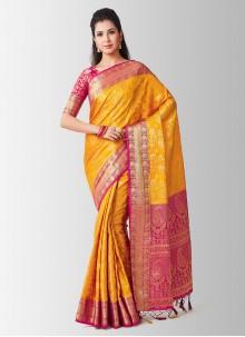 Zari Art Silk Gold Designer Traditional Saree