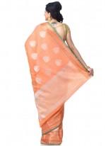 Zari Banarasi Silk Classic Designer Saree in Peach