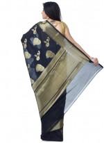 Zari Black Banarasi Silk Classic Designer Saree