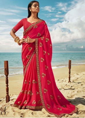 Pink Zari Party Classic Designer Saree