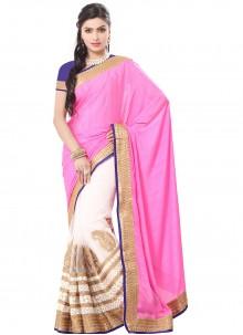 Zari Party Pink Classic Saree