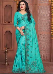 Blue Silk Zari Traditional Designer Saree