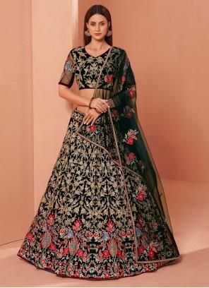 Green Zari Wedding Trendy Lehenga Choli