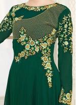 Zari Work Faux Georgette Floor Length Anarkali Suit