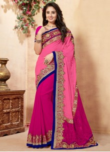 Zari Work Georgette Classic Saree