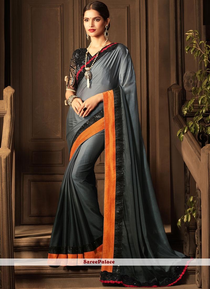 Zesty Art Silk Patch Border Work Traditional Designer Saree
