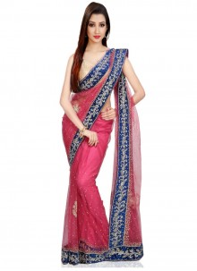 Zircon Work Net Trendy Saree